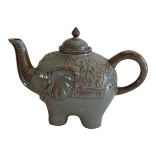 Boho Ceramic Elephant Tea Pot