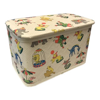 Vintage Toy Storage Box