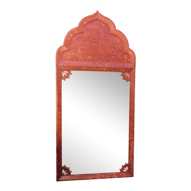 Huge Mid 20th Century Tony Duquette Red Bombay India Mirror - Image 1 of 5
