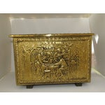 Image of English Hammered Brass-Covered Wooden Box