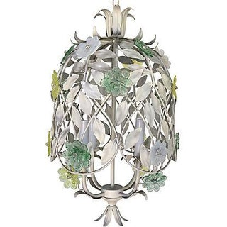 1950s Italian Pendant with Murano Flowers