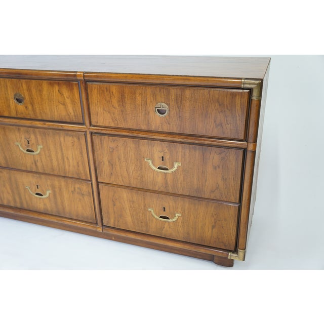 Image of Drexel Campaign Dresser With Mirror