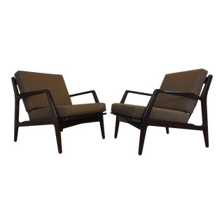 1960s Ib Kofod-Larsen Lounge Chairs - A Pair