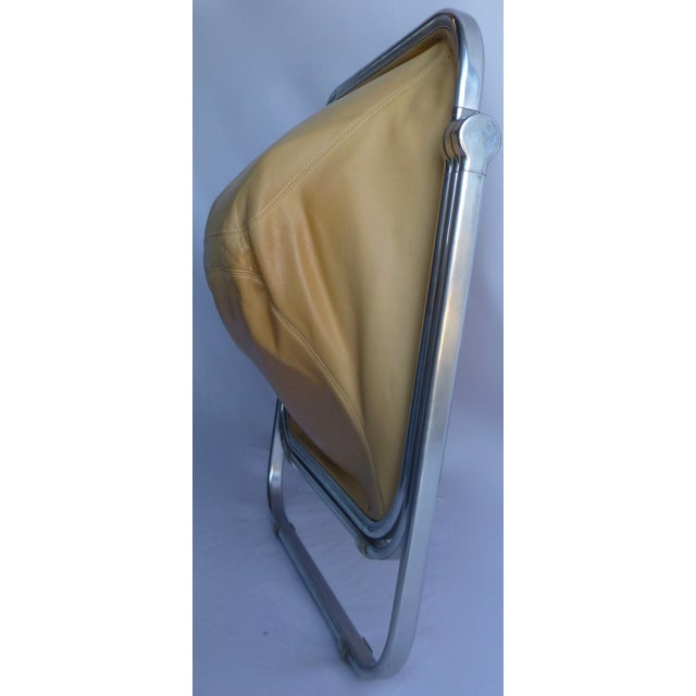 Image of Italian Leather Sedia Folding Chair by Castelli