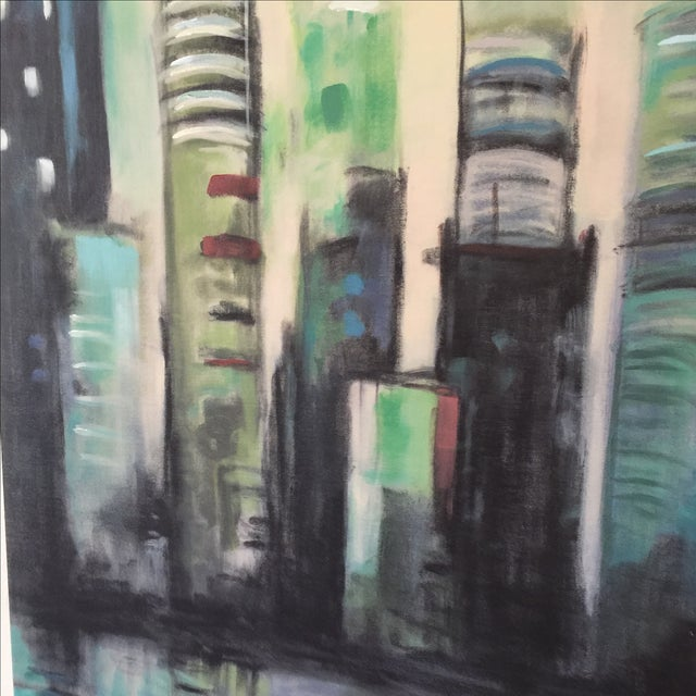 Twilight Cityscape on Canvas - Image 9 of 11
