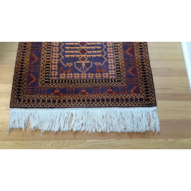 """Persian Shiraz Hand-Knotted Oriental Wool Rug - 4'10"""" X 2'11"""" - Image 6 of 11"""