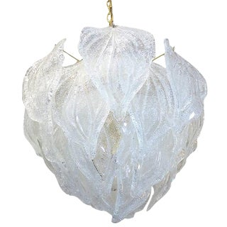 Murano Glass Leaf Chandelier