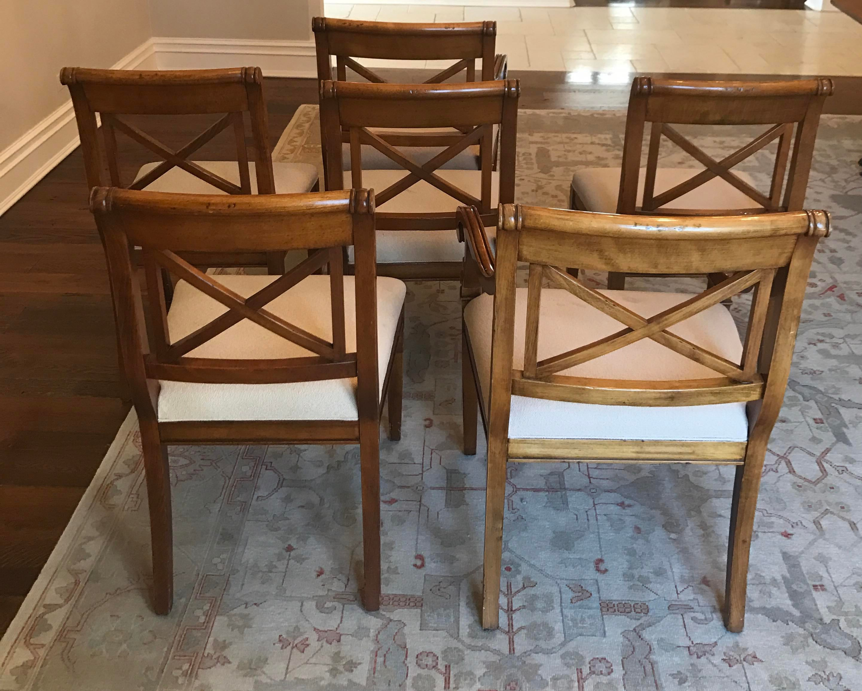 Baker Regency Dining Room Chairs Set of 6 Chairish