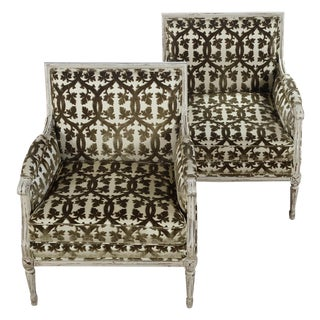 French Louis XVI Style Directoire Chairs - A Pair