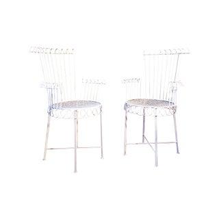 Mathieu Mategot Model Cap d'Ail Iron Outdoor / Indoor Chairs - a Pair