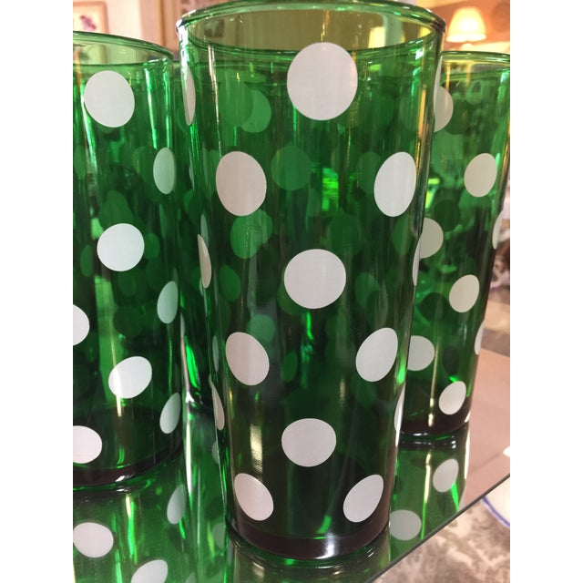 1950's Dark Green Polka Dot 20 oz. Tumblers - Set of 8 - Image 3 of 3