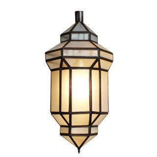 Moroccan Style White Prism Lantern