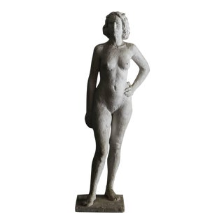 Large Raw Plaster Sculpture Nude Study