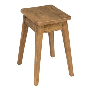 Sarreid Ltd. Clipped Corners Low Oak Stool