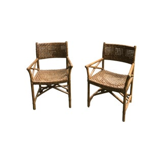 Vintage Rattan Side Chairs - A Pair