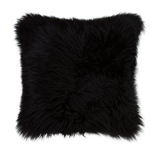 Handmade Black Sheepskin Pillow
