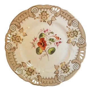Antique English Hand-Painted Plate