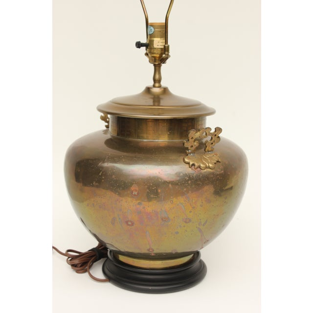Chapman Brass Asian Table Lamps - A Pair - Image 7 of 7