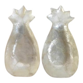 Mother-Of-Pearl Pineapple Shaped Bowls - a Pair