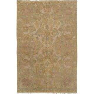"Agra Design Hand Knotted Rug - 6'4"" X 9'9"""