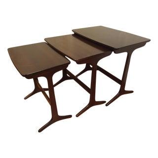 Selig Danish Mid Century Modern Nesting Tables - 3