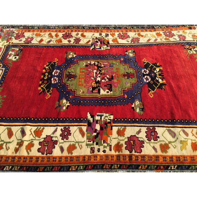 """Vintage Hand Knotted Anatolian Rug - 5'1"""" x 8' - Image 5 of 8"""