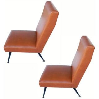 Italian Marco Zanuso Slippers Chairs - Pair