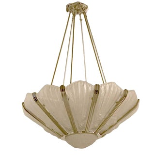 Genet Et Michon French Art Deco Chandelier