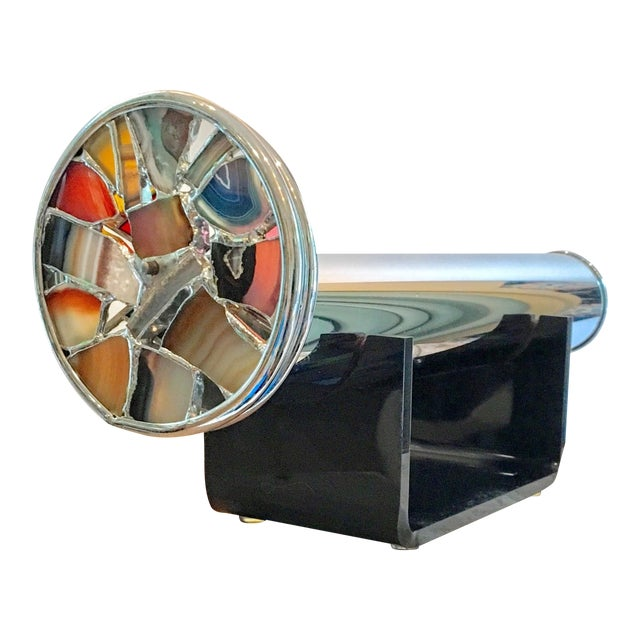 Modern Art Glass Chrome Agate Kaleidoscope - Image 1 of 7