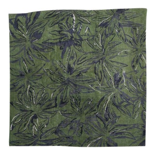 Exuberant Palmleaf-Patterned Hand-Loomed Wool Rug, Stephanie Odegard Collection