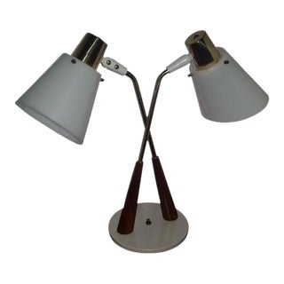 Gerald Thurston Ligholier Bullet Double Desk Lamp