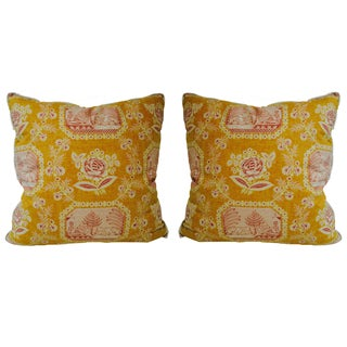 Yellow French Country Pierre Frey Pillows - A Pair