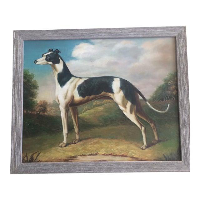Greyhound Dog Painting - Image 1 of 4