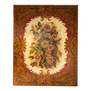 Lacquered Floral Painting
