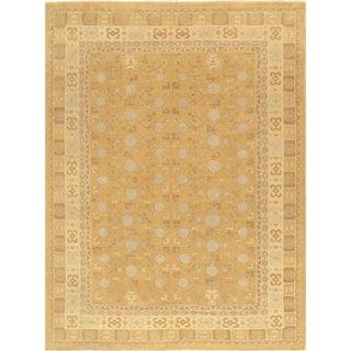 Pasargad Khotan Lamb's Wool Area Rug- 9′1″ × 12′3″