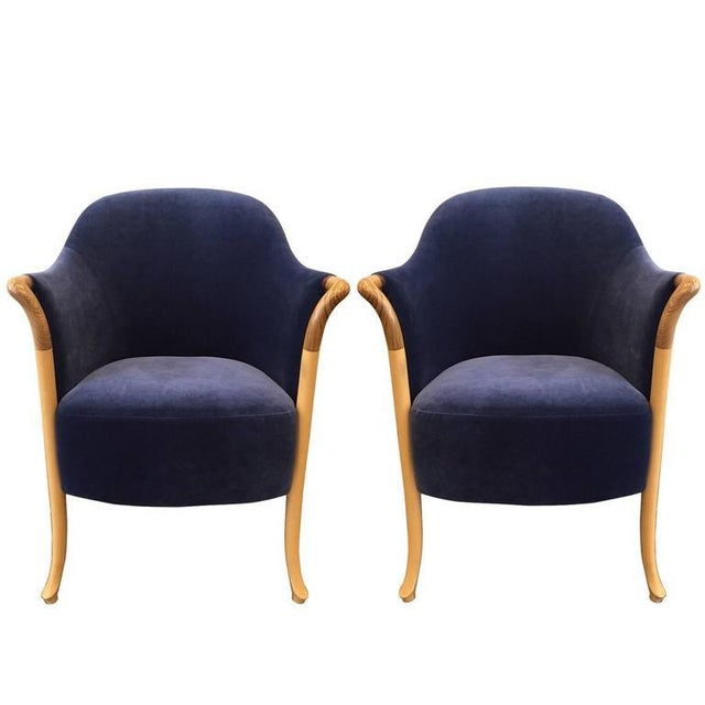 Pair Giorgetti Progetti Armchairs - Image 2 of 6