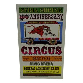 Syria Shrine 100th Anniversary Circus Poster
