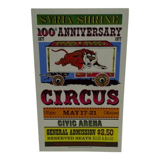 Syria Shrine 100th Anniversary Circus Poster