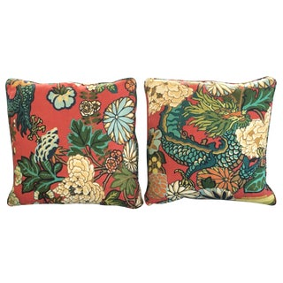 Schumacher Chiang Mai Dragon Pillows - A Pair
