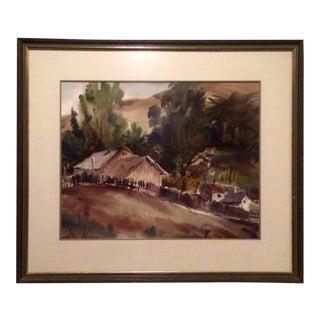 Harold Gretzner Original Watercolor Painting