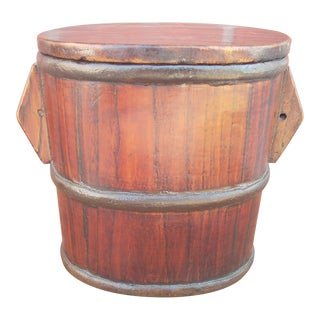 Chinese Wooden Basket Box