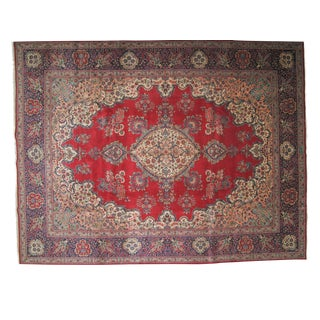 "Persian Tabriz Carpet -- 9'9"" x 12'9"""