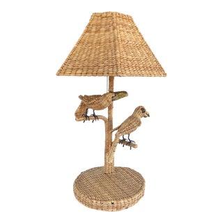 Mario Lopez Torres Wicker Toucan & Parrot Lamp