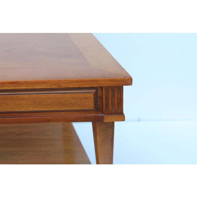 John Widdicomb Mid-Century Curved High End Walnut Accent Table - Image 8 of 11