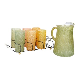 Spaghetti Carafe & Glass Set - 8 Pcs