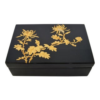 Black Lacquered Trinket Box