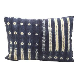 Vintage African Indigo Bolster Pillow