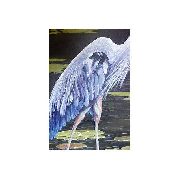 Dramatic Heron Portrait Painting - Image 5 of 6