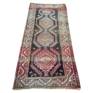 "Vintage Persian Shiraz Runner - 4'3"" X 9'1"""