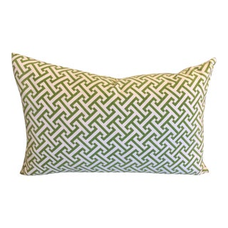 Green Geometric Lumbar Pillow